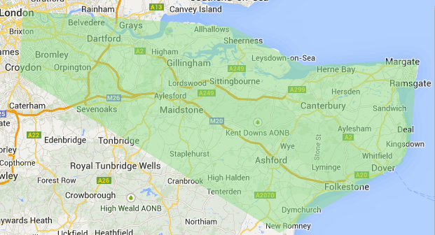Map of Omnicroft Services coverage